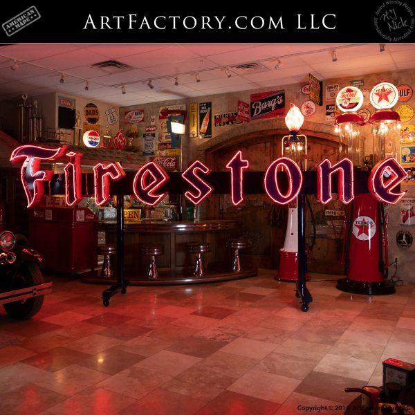 Vintage Firestone Neon Sign
