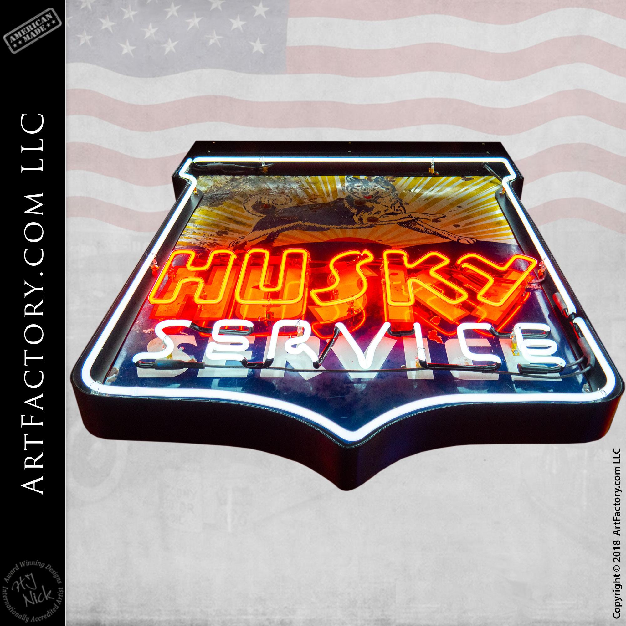 Vintage Husky Neon Sign