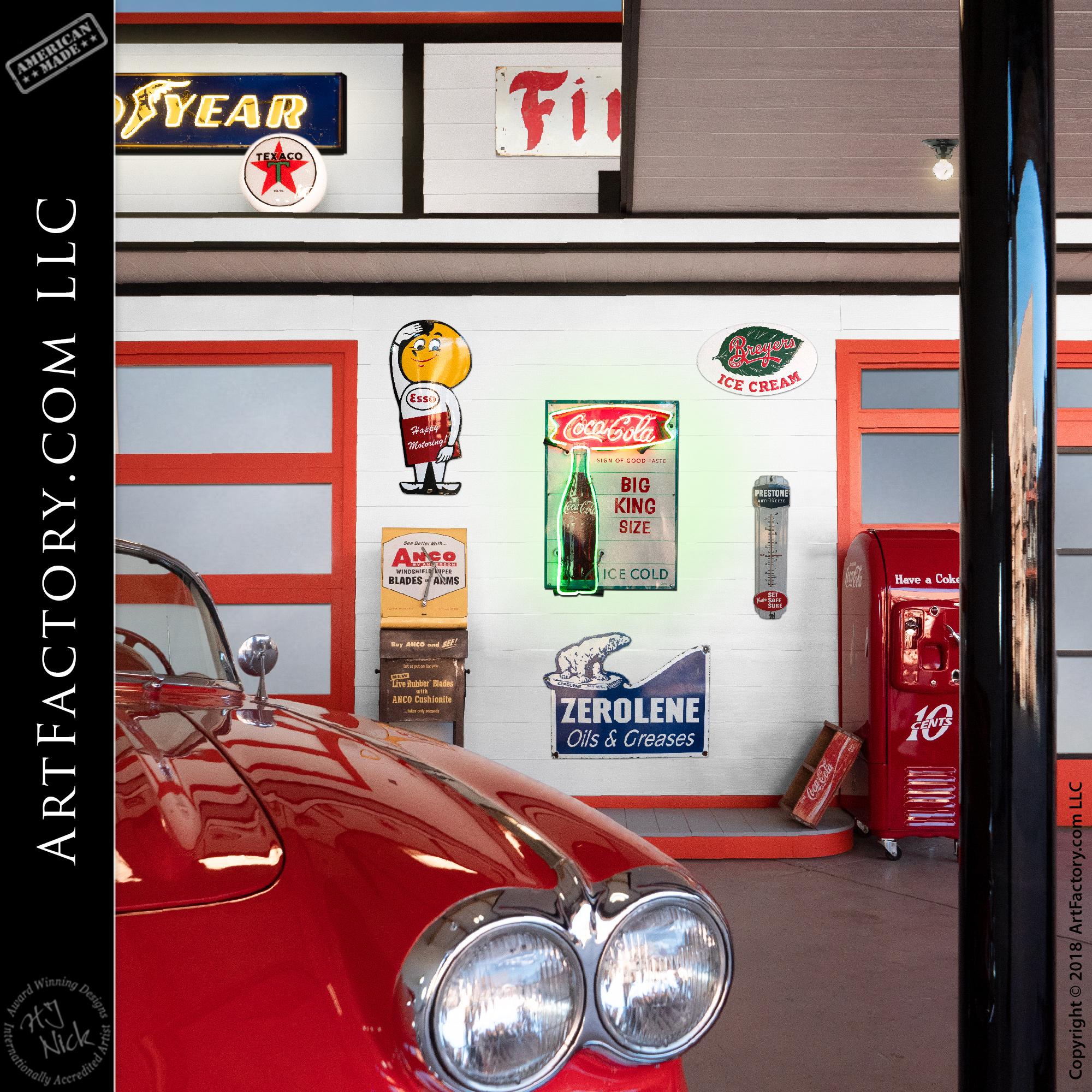 Custom Vintage Gas Station Display