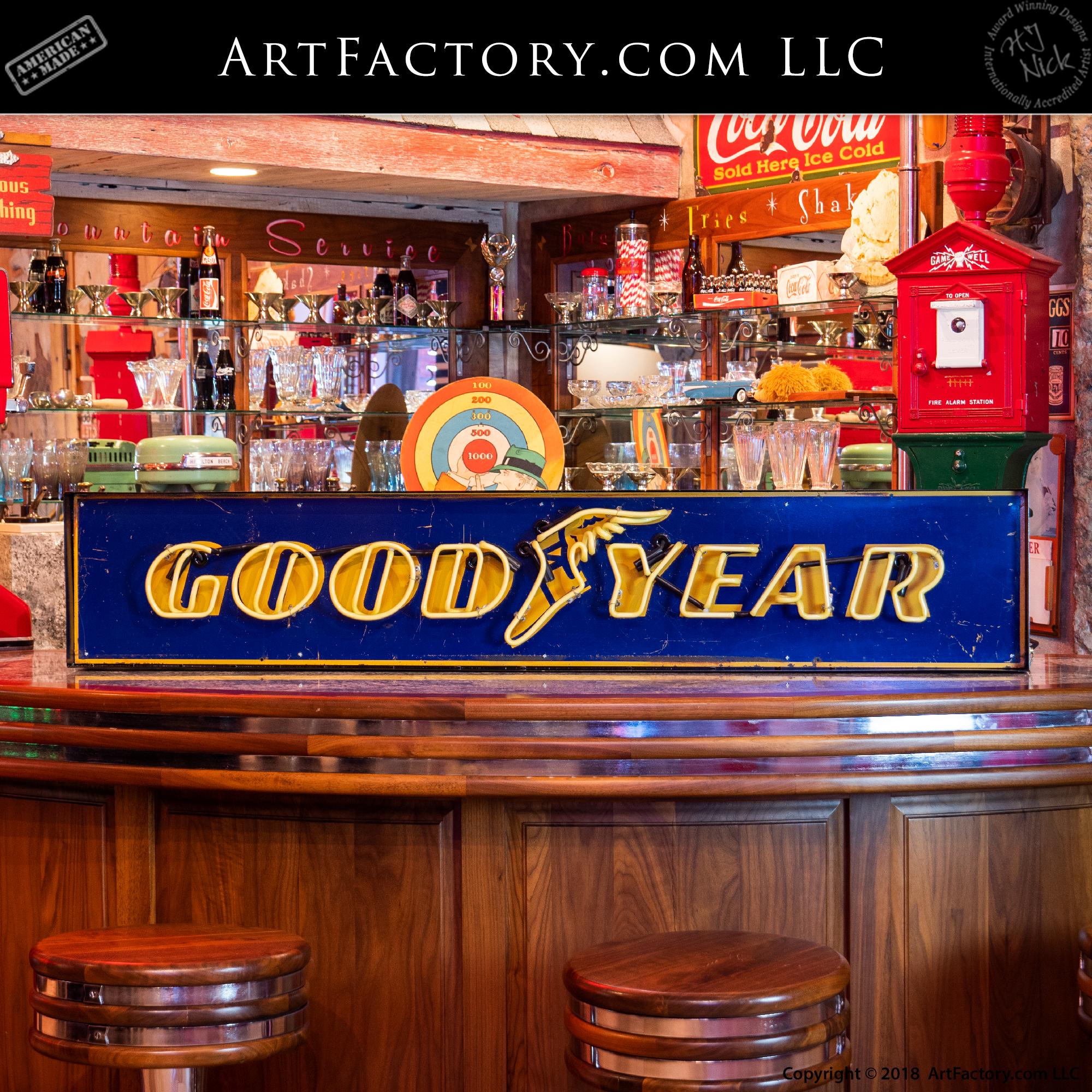 Vintage Good Year Neon Sign
