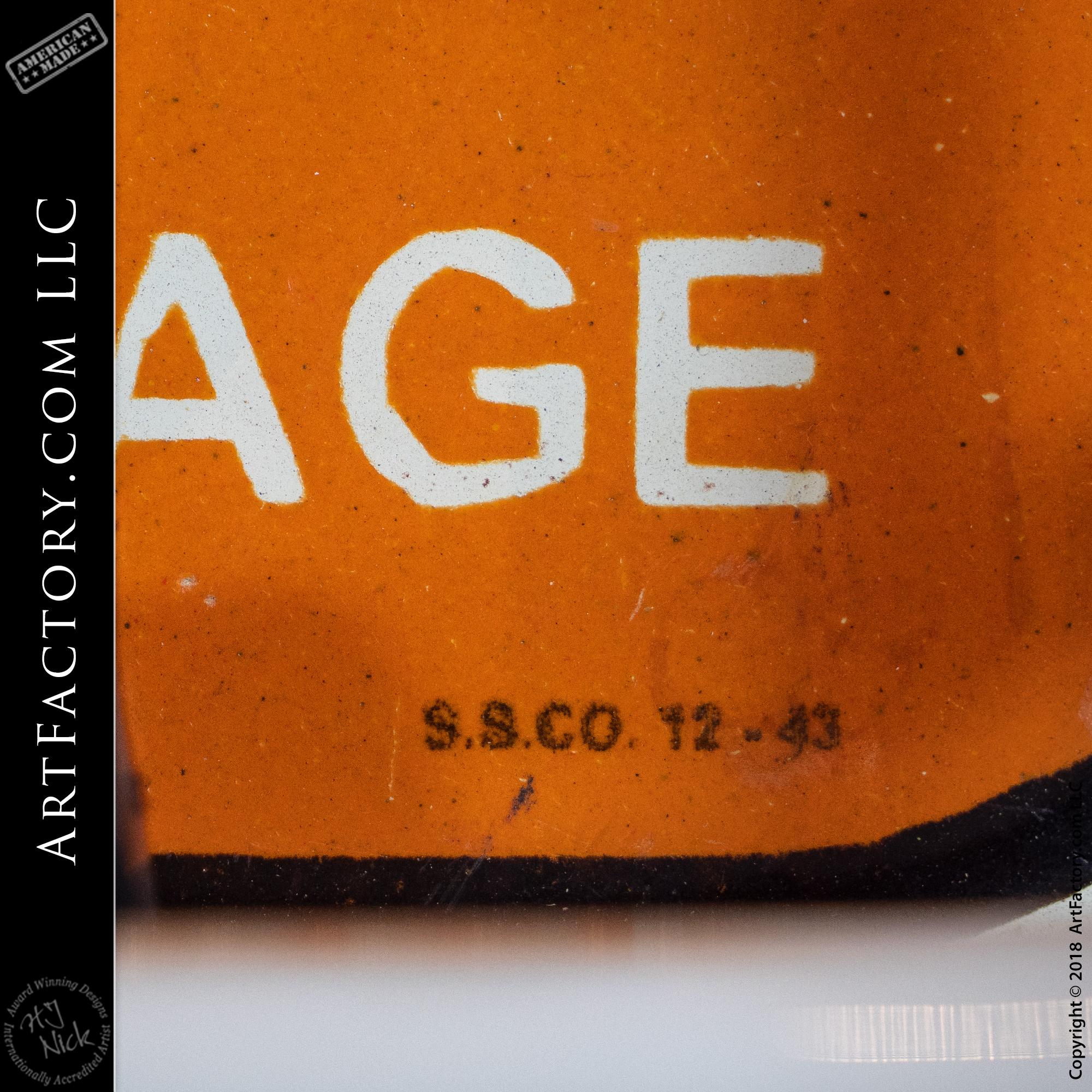 Vintage Orange Crush Neon Sign