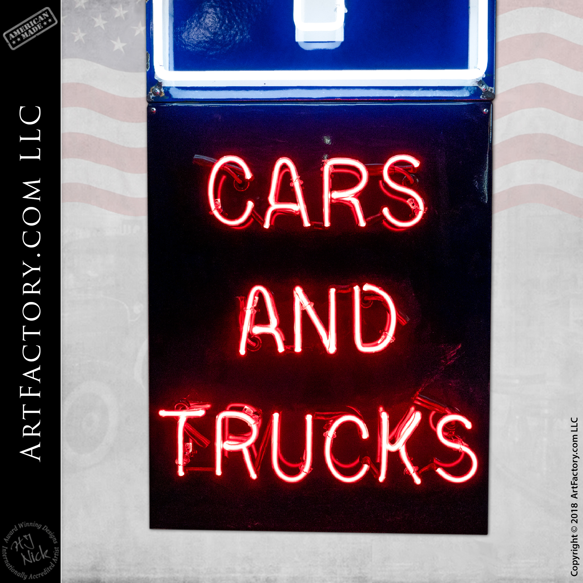 vintage chevy neon sign cars trucks