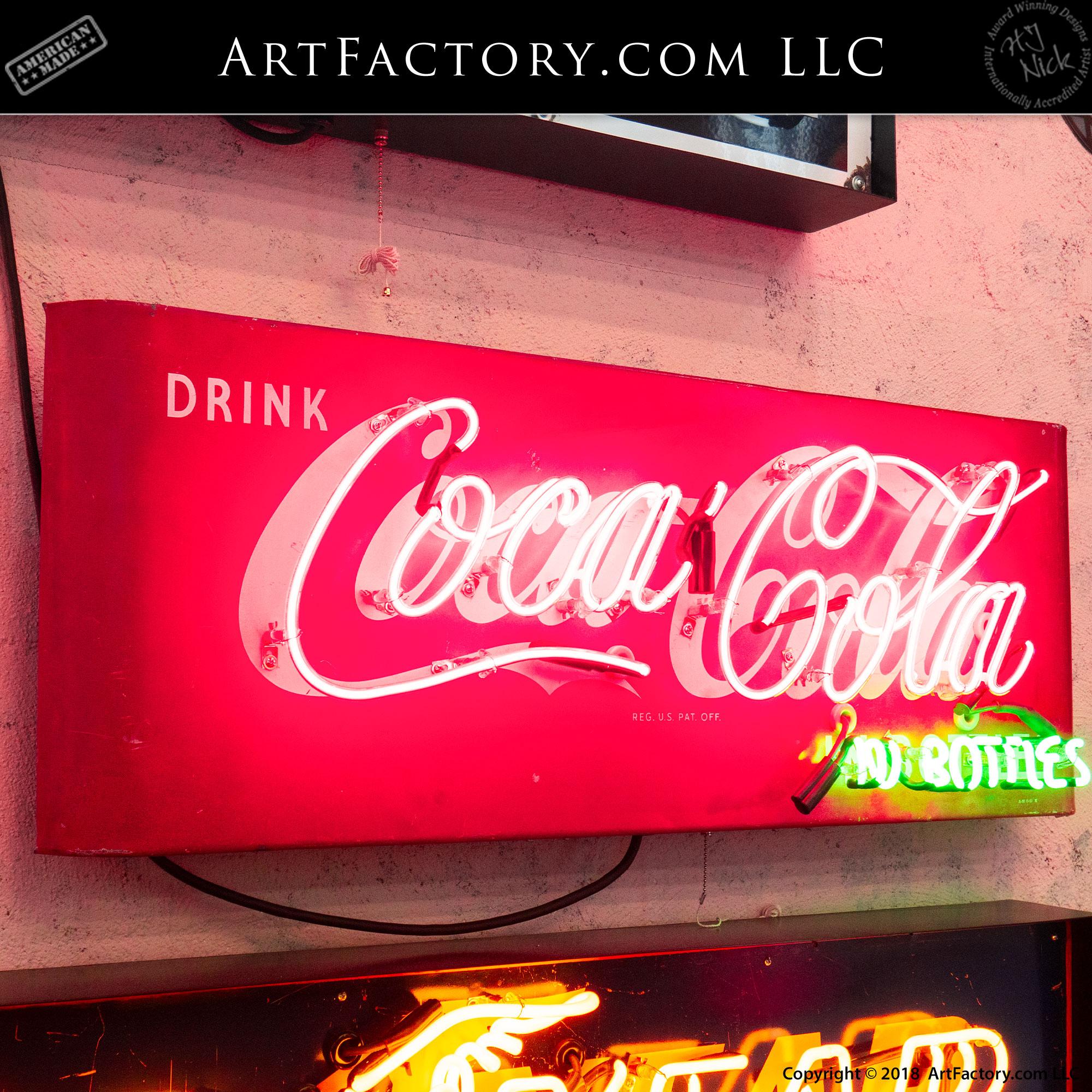 Vintage Neon Drink Coke Sign