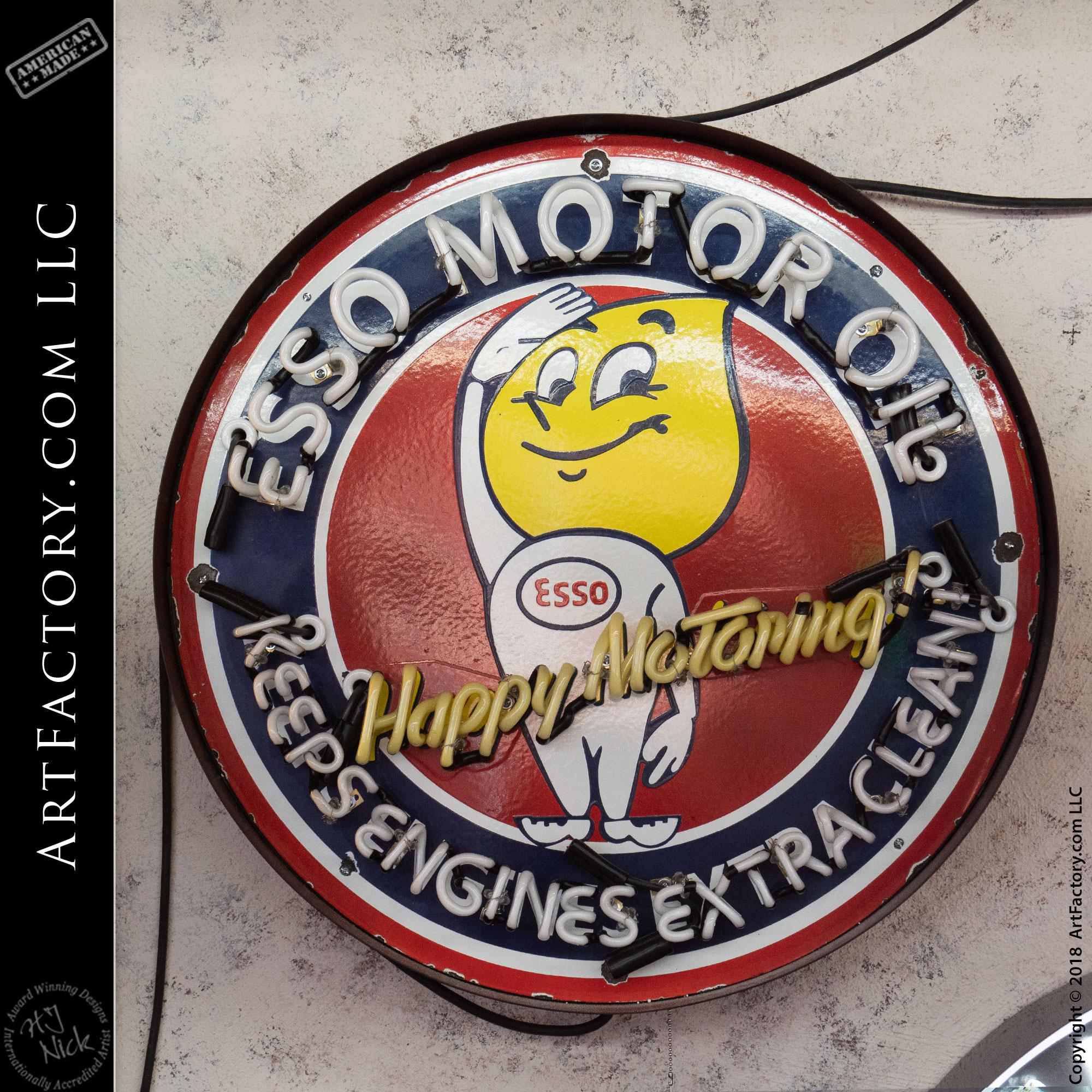 Vintage Neon Esso Sign