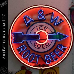 A&W Vintage Neon Root Beer Sign