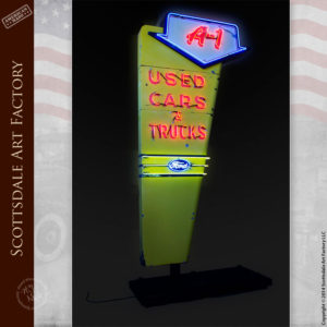 Ford Dealership Neon Sign A1 Used Cars & Trucks - VS86