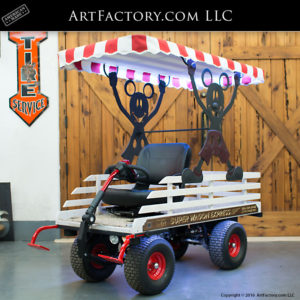 Theme Park Super Wagon With Popcorn Canopy - SW16