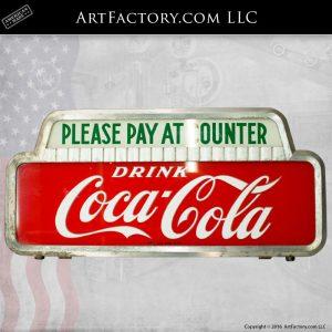 Lighted Coca-Cola Sign Topper - Collectors Dream CCT900
